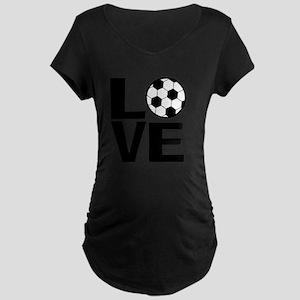 Love Soccer Maternity Dark T-Shirt