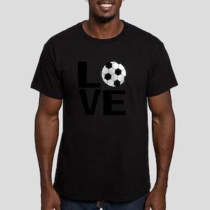 Love Soccer Men's Fitted T-Shirt (dark)