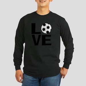 Love Soccer Long Sleeve Dark T-Shirt