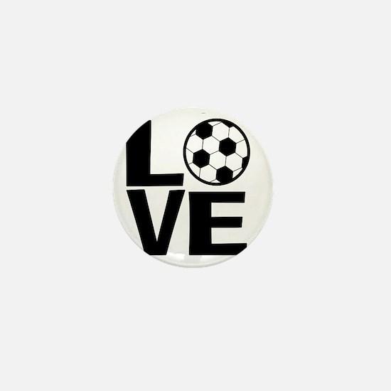 Love Soccer Mini Button