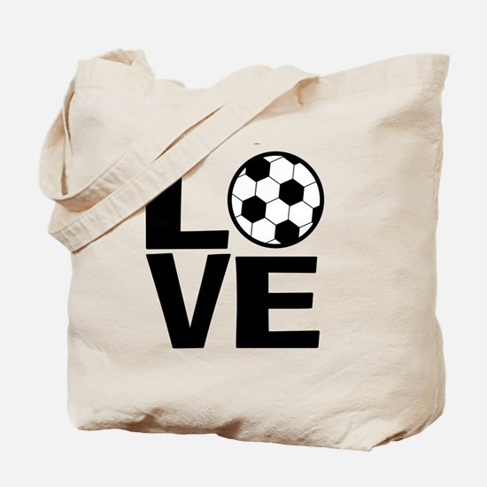 Love Soccer Tote Bag