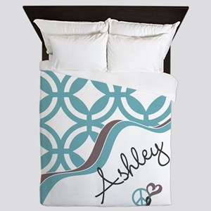 Custom Name Pattern Queen Duvet