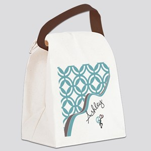 Custom Name Pattern Canvas Lunch Bag