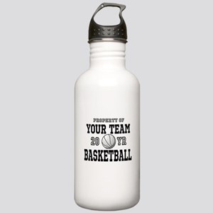 Personalized Your Team Text Basketball Water Bottl