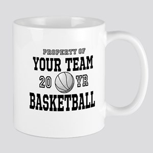 Personalized Your Team Text Basketball Mugs