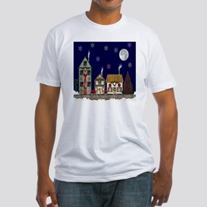 The Village at Christmas Fitted T-Shirt