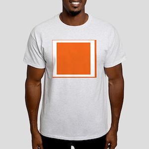 Orange Color Block Light T-Shirt