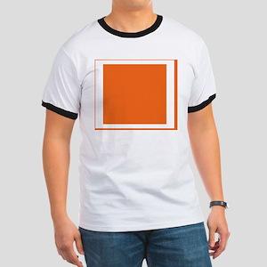Orange Color Block Ringer T