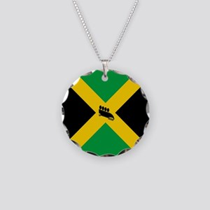 Team Jamaica Bobsled Necklace Circle Charm