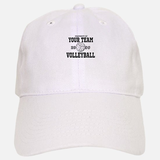 Personalized Property of Your Team Volleyball Baseball Baseball Cap