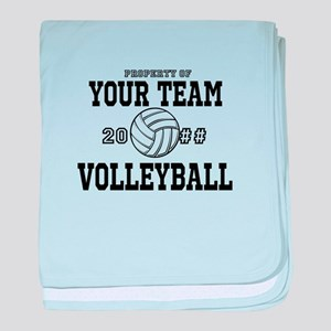 Personalized Property of Your Team Volleyball baby