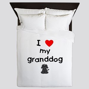 I love my granddog (4) Queen Duvet