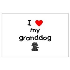 I love my granddog (4) Large Poster