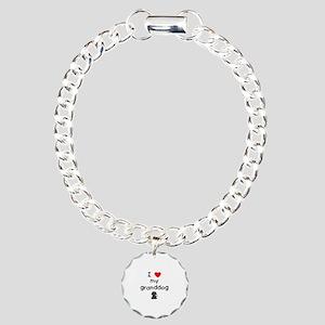 I love my granddog (4) Charm Bracelet, One Charm