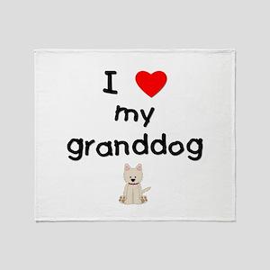 I love my granddog (westie) Throw Blanket