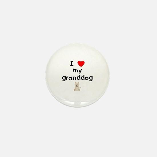 I love my granddog (westie) Mini Button