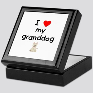 I Love My Granddog Jewelry Boxes Cafepress