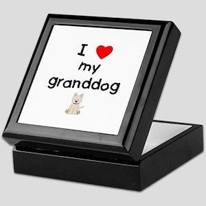 I Love My Granddog Jewelry Boxes Cafepress