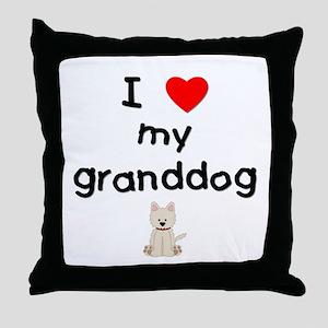 I love my granddog (westie) Throw Pillow