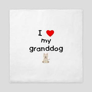 I love my granddog (westie) Queen Duvet