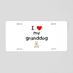 I love my granddog (westie) Aluminum License Plate