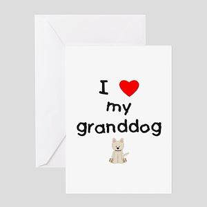 I love my granddog (westie) Greeting Card