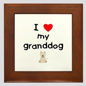I Love My Granddog Wall Art Cafepress