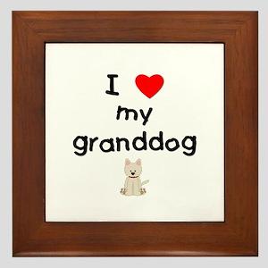 I Love My Granddog Wall Art Cafepress