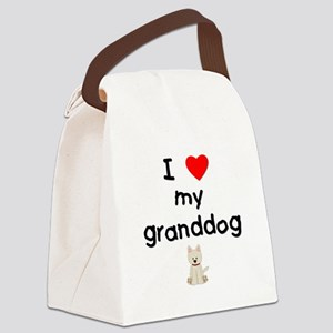 I love my granddog (westie) Canvas Lunch Bag