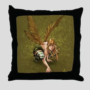Crouching Fairy Throw Pillow