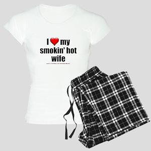 """""""Love My Smokin' Hot Wife"""" Women's Light Pajamas"""