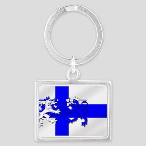 Finland Lion Flag Landscape Keychain