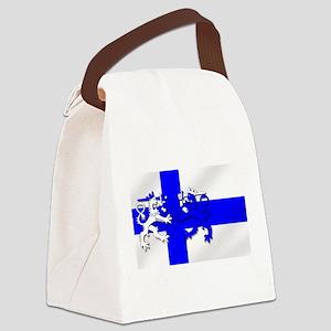Finland Lion Flag Canvas Lunch Bag