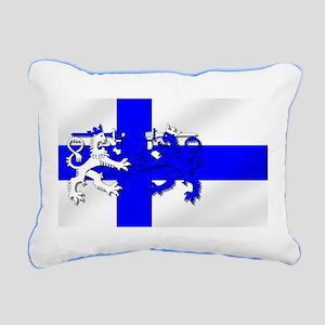 Finland Lion Flag Rectangular Canvas Pillow