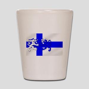 Finland Lion Flag Shot Glass