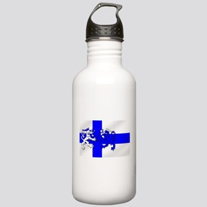 Finland Lion Flag Stainless Water Bottle 1.0L