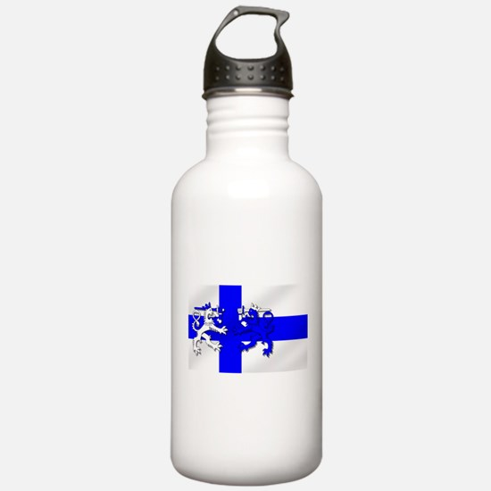 Finland Lion Flag Water Bottle