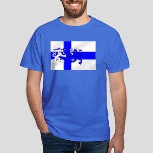 Finland Lion Flag Dark T-Shirt