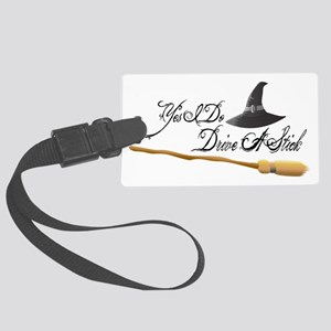 Drive a stick Large Luggage Tag
