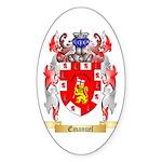 Emanuel Sticker (Oval 50 pk)