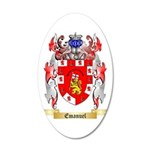 Emanuel 35x21 Oval Wall Decal