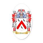 Elvin Oval Car Magnet