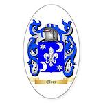 Elvey Sticker (Oval 50 pk)