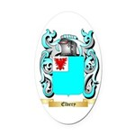 Elvery Oval Car Magnet