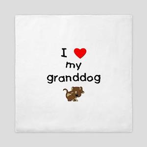 I love my granddog (5) Queen Duvet