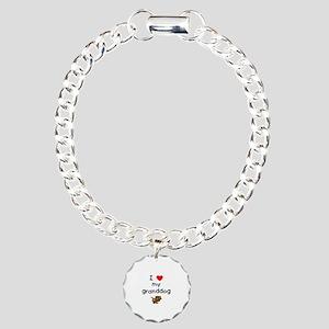 I love my granddog (5) Charm Bracelet, One Charm
