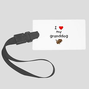 I love my granddog (5) Large Luggage Tag