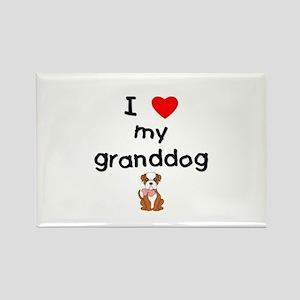 I love my granddog (bulldog) Rectangle Magnet