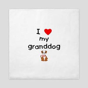 I love my granddog (bulldog) Queen Duvet