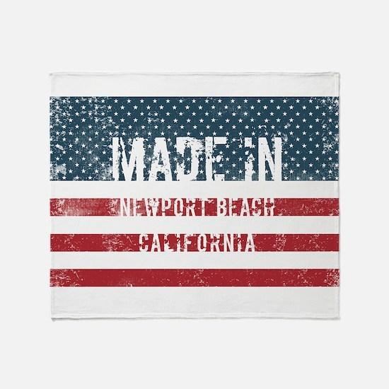 Made in Newport Beach, California Throw Blanket
